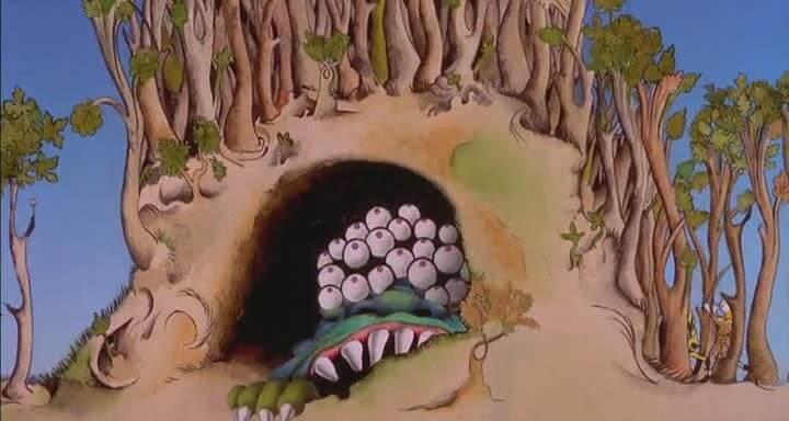 Image issue destransitions animées du film Sacrée Graal des Monthy Python