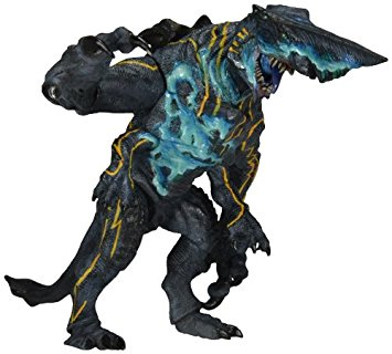 Une photo d'un jouet à l'effigie d'un monstre du film.