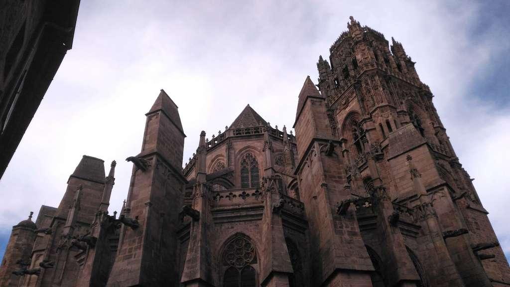 Cathédrale de Rodez, vue du sud-est.