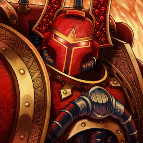 Berzerker de khorne, le dieu du chaos du sang et des massacres, tout un programme.