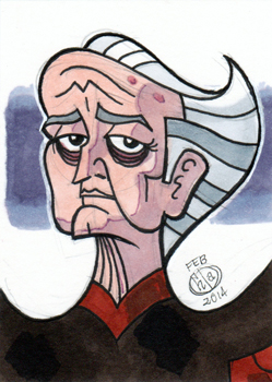 Portrait façon cartoon du méchant iconique de Star Wars, Palpatine, par Chad73
